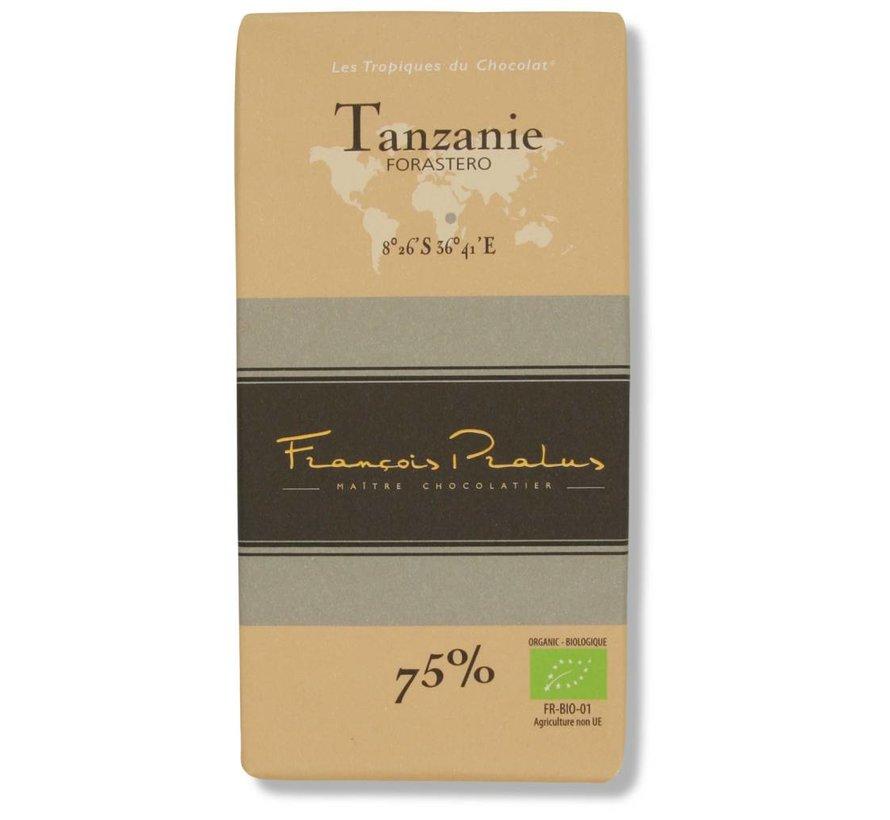 Dunkle Bio-Schokolade 75% Tanzanie