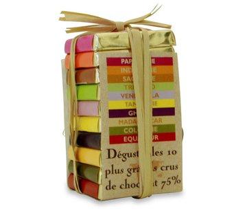 Pralus Dunkle Schokolade 75% Pyramide des Tropiques Mini