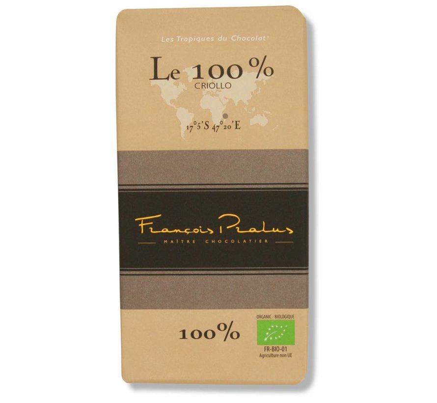 Dunkle Bio-Schokolade Le 100% Cacao