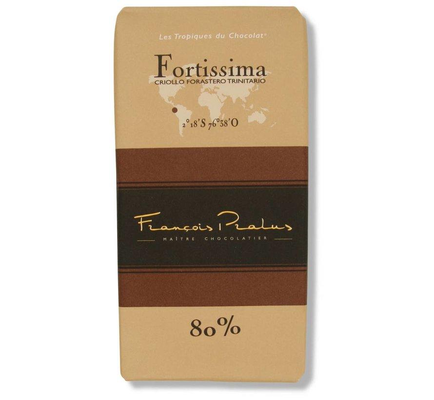 Dunkle Schokolade 80% Fortissima