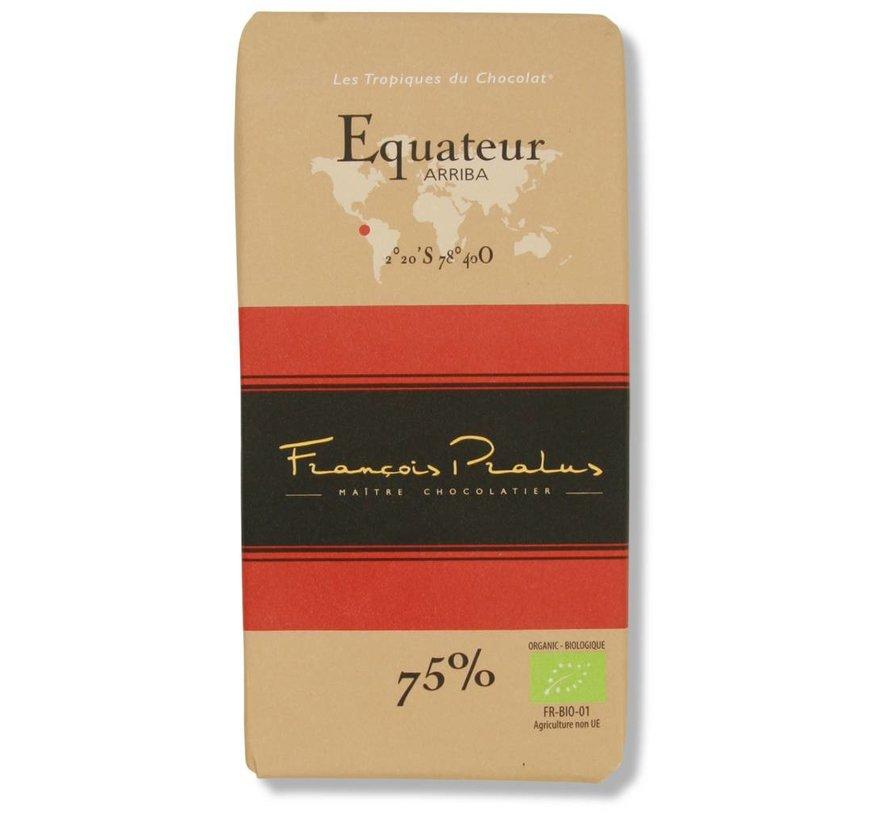 Dunkle Bio-Schokolade 75% Equateur