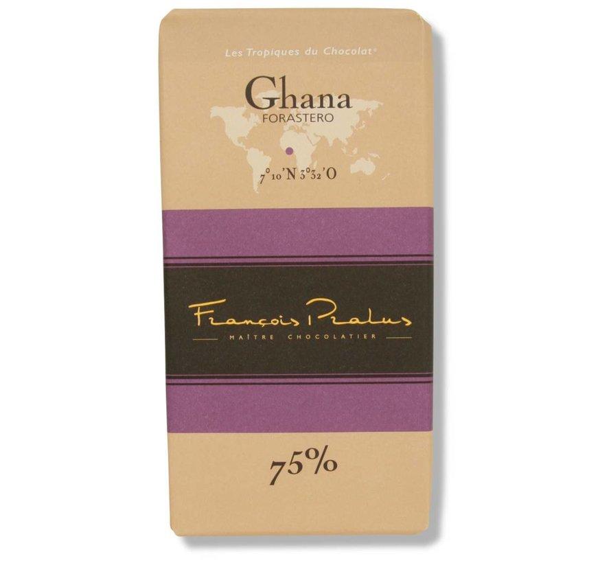 Dunkle Schokolade 75% Ghana