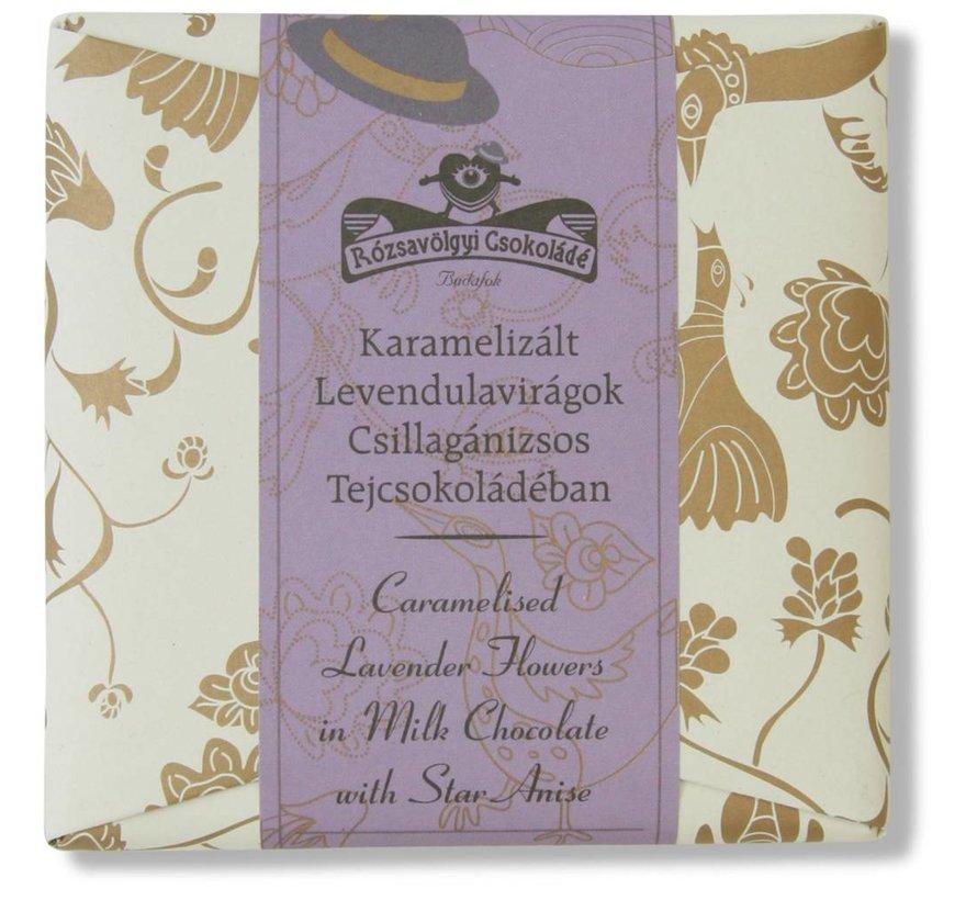 Milchschokolade mit Lavendel und Sternanis