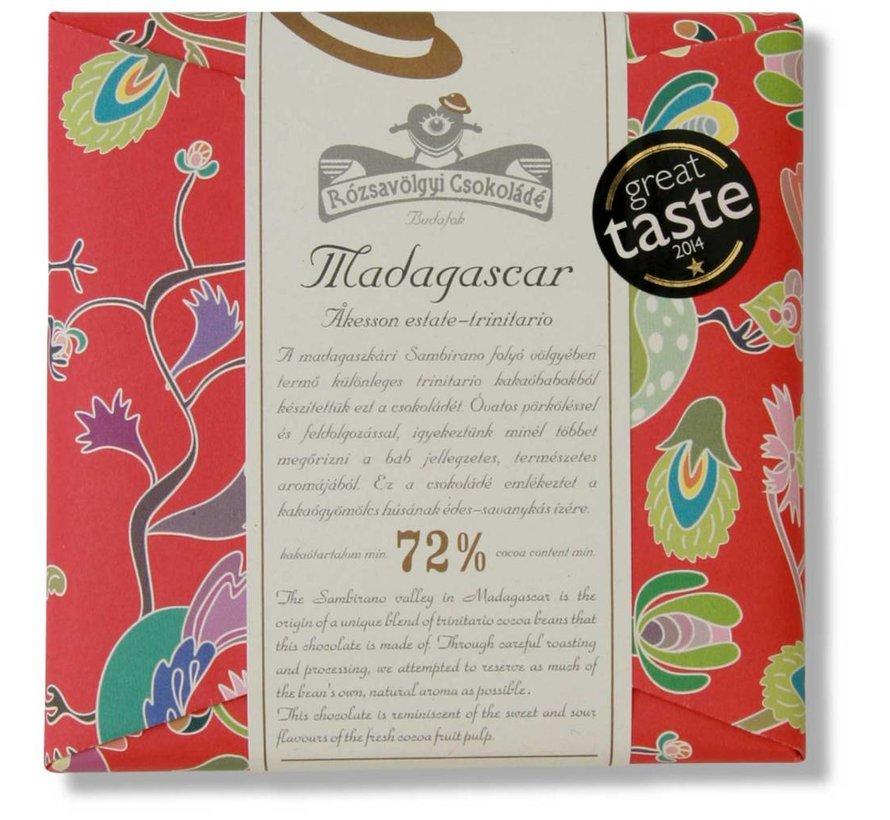Dunkle Schokolade 72% Madagascar