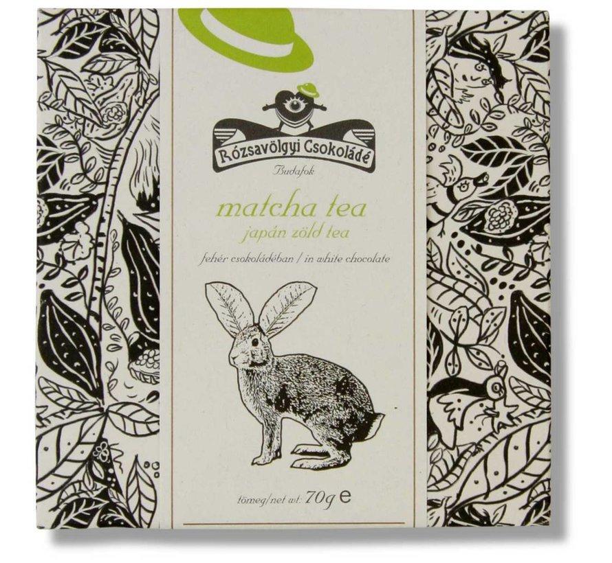 Weiße Schokolade mit Matcha Tea