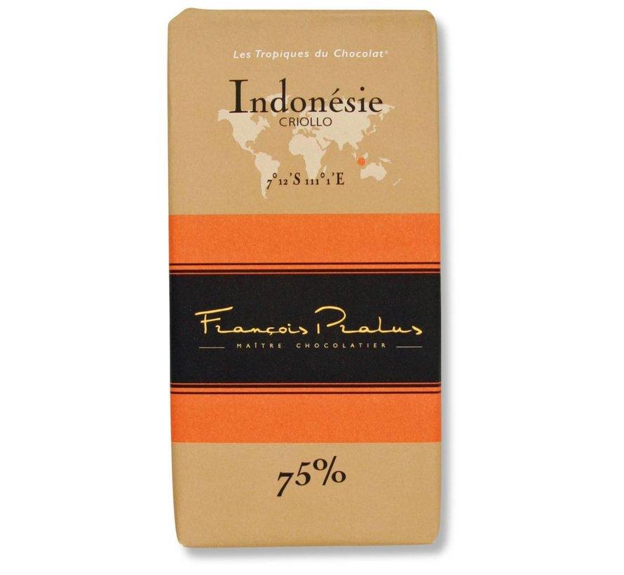 Dunkle Schokolade 75% Indonesie