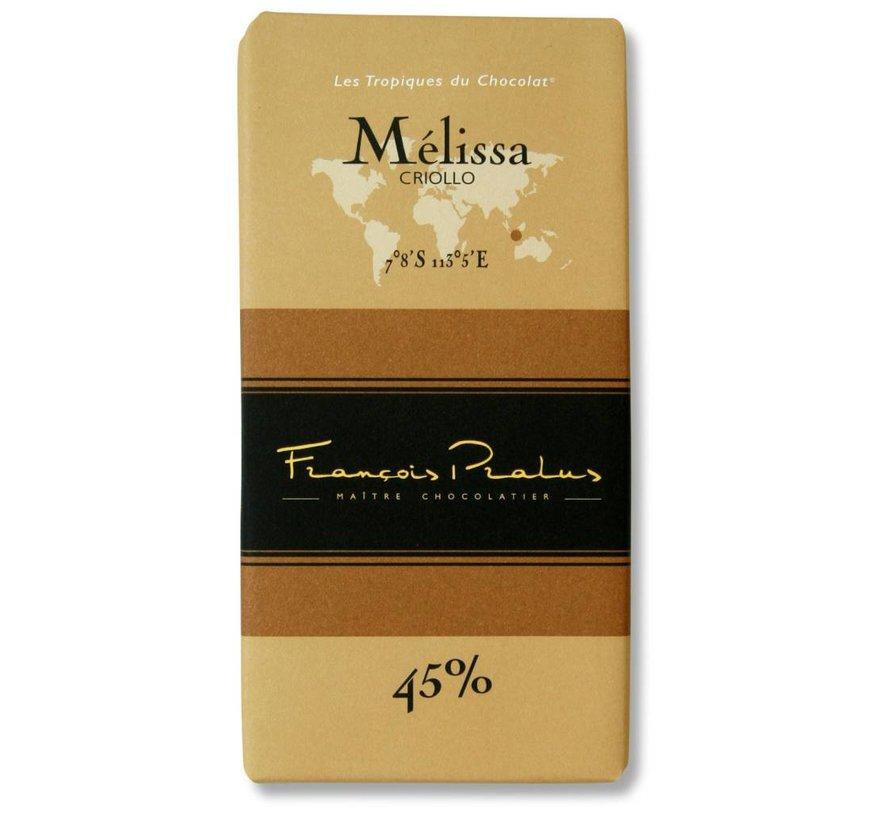 Milchschokolade Melissa 45%