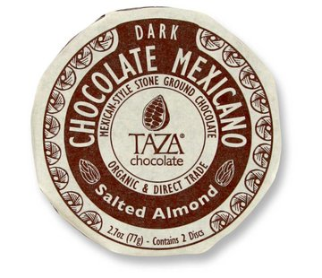Taza Chocolate Dunkle Bio-Schokolade 40% Salted Almonds