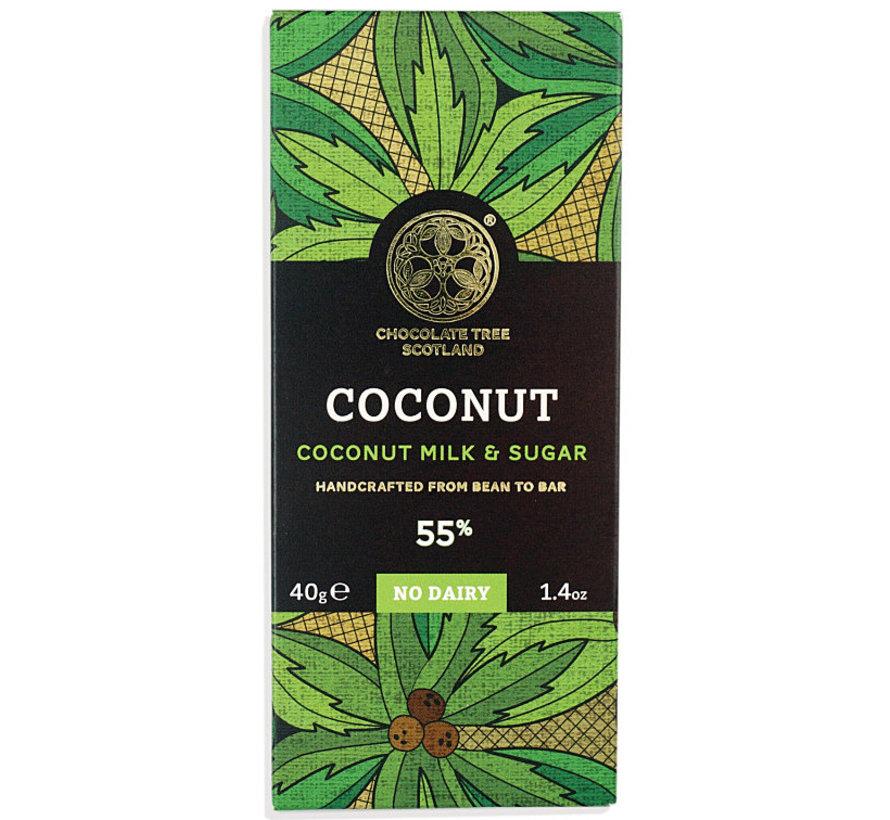 Bio-Kokosmilch-Schokolade