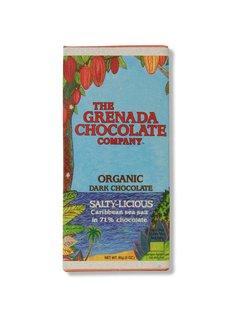 Grenada Chocolate Company Dunkle Bio-Schokolade 71% mit Salz - Salty-Licious