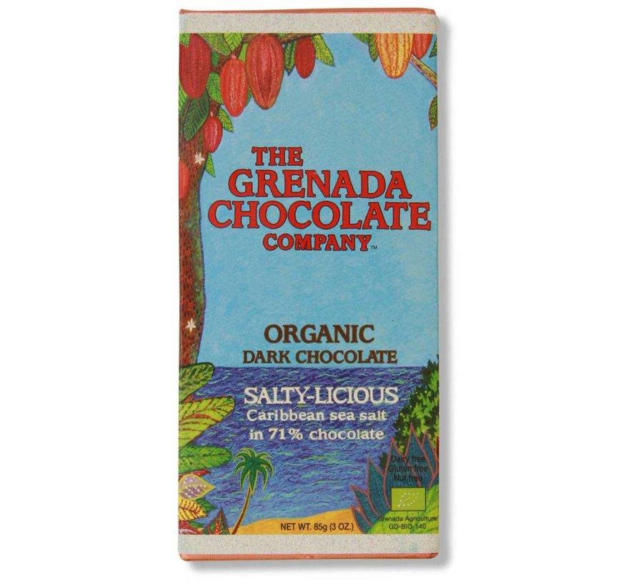 Dunkle Bio-Schokolade 71% mit Salz - Salty-Licious