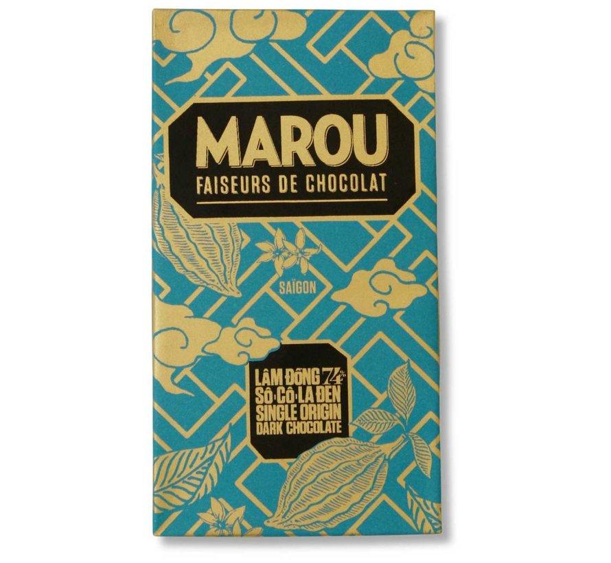 Dunkle Schokolade Lam Dong 74%