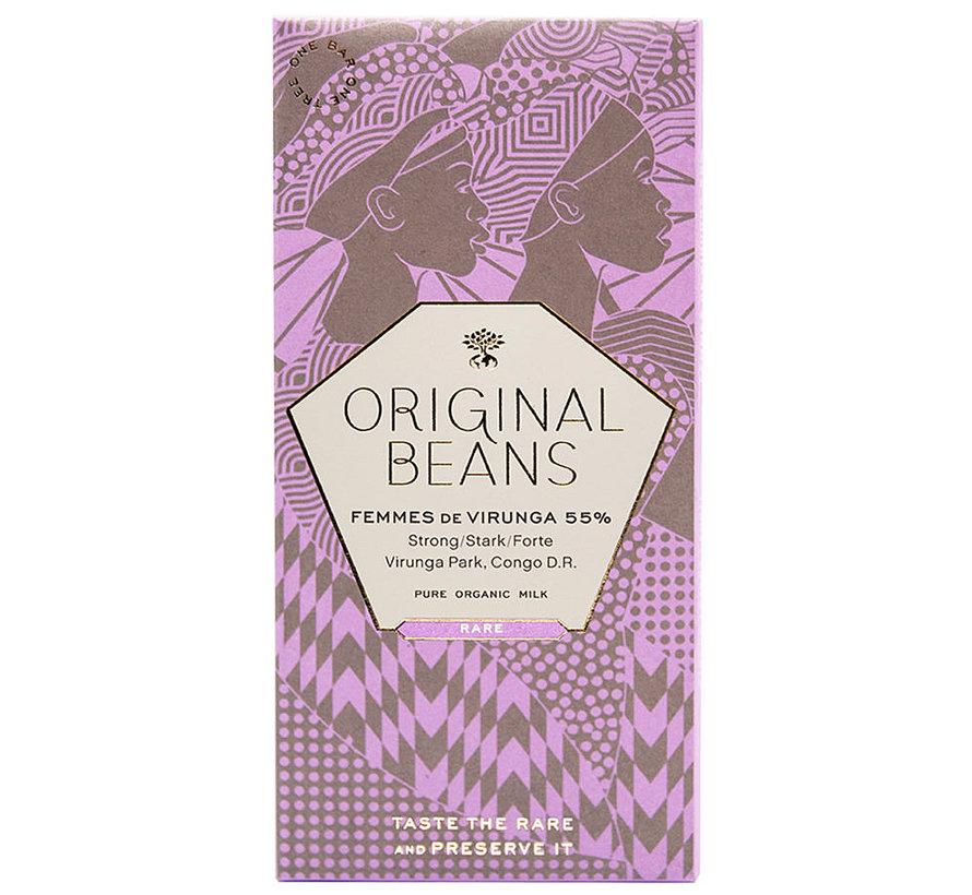 Bio-Milchschokolade Femmes de Virunga 55%