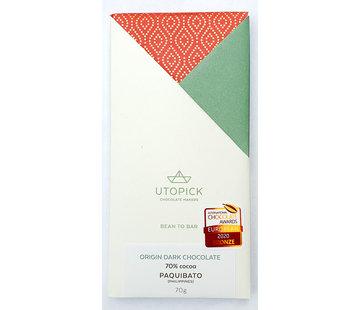 Utopick Dunkle Schokolade 70% Paquibato