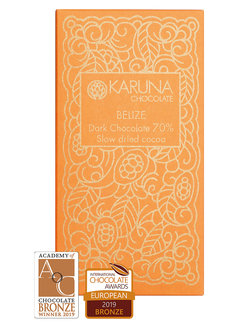 Karuna Chocolate Dunkle Bio-Schokolade 70% Slow dried Belize