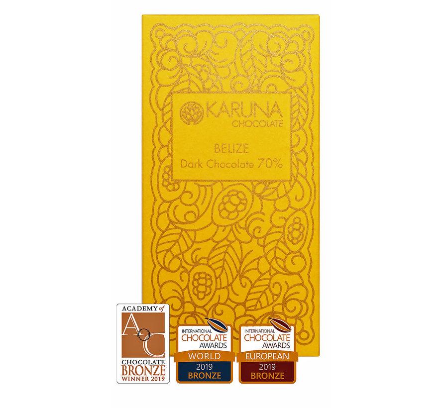 Dunkle Bio-Schokolade  70% Belize