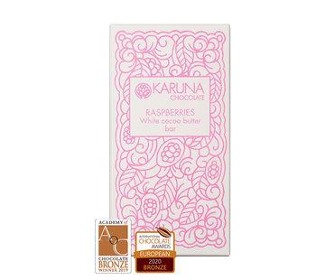 """Karuna Chocolate Vegane """"weiße Schokolade"""" White Raspberries - Himbeeren"""