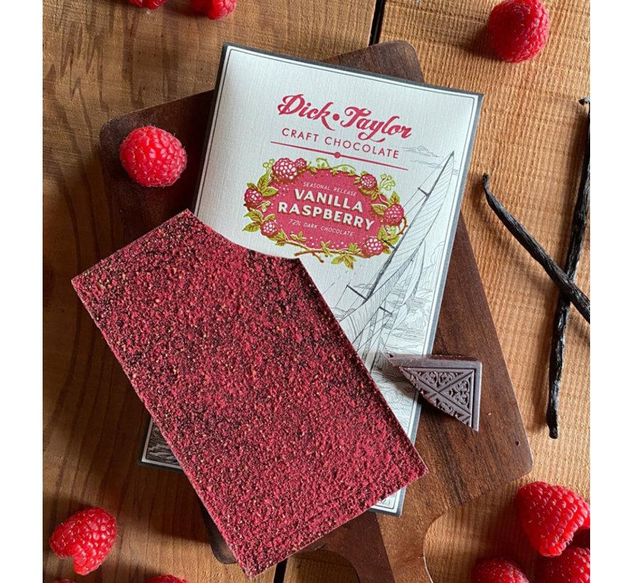 Dunkle Schokolade Vanilla Raspberry 72%