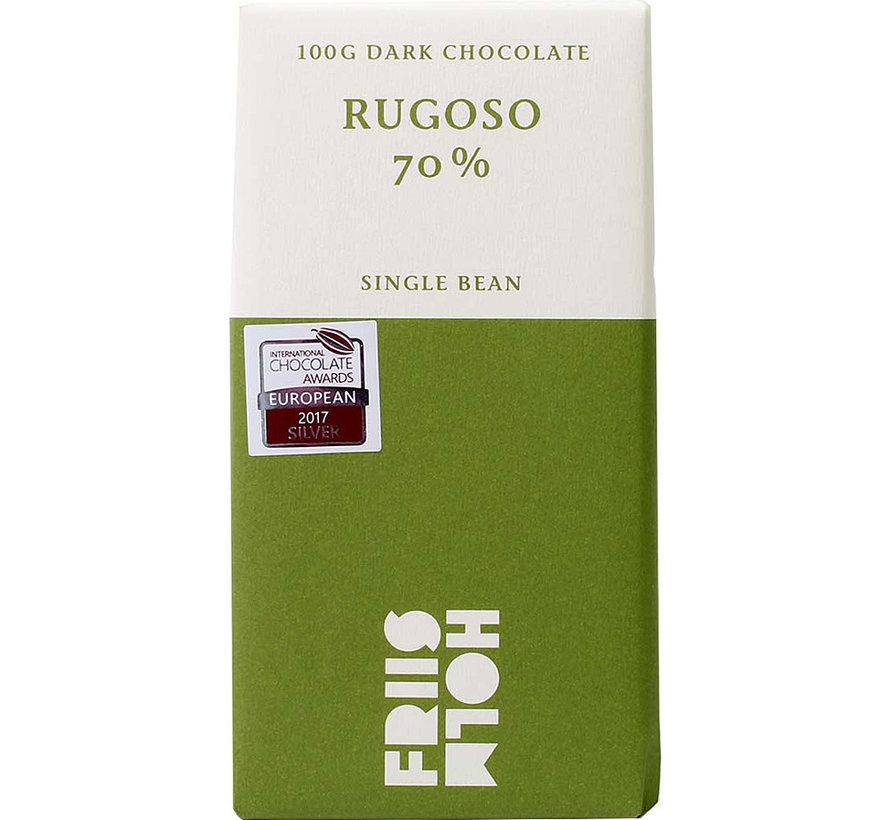Dunkle Schokolade Rugoso 70%