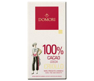 Domori Dunkle Schokolade 100% Criollo