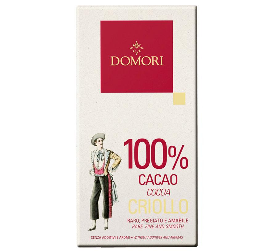 Dunkle Schokolade 100% Criollo