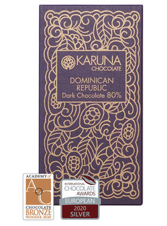 Karuna Chocolate Dunkle Bio-Schokolade  80% Dominican Republik