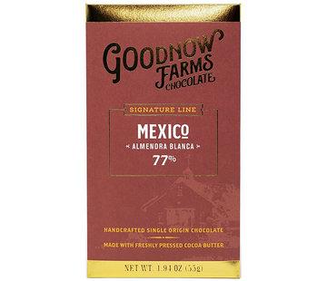 Goodnow Farms Dunkle Schokolade Mexico Almendra Blanca 77%