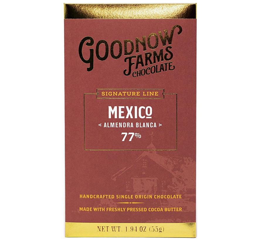 Dunkle Schokolade Mexico Almendra Blanca 77%