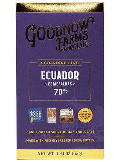 Goodnow Farms Dunkle Schokolade Ecuador Esmeraldas 70%