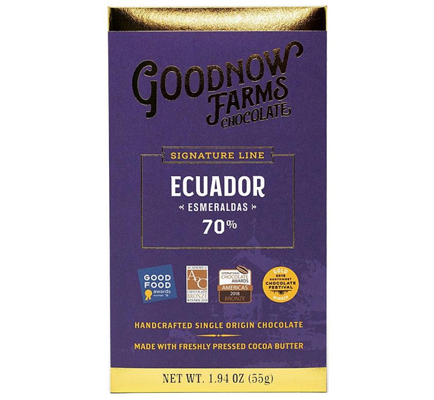 Dunkle Schokolade Ecuador Esmeraldas 70%