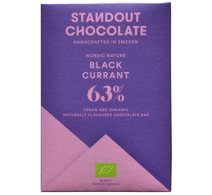 Dunkle Schokolade Black Current 63%