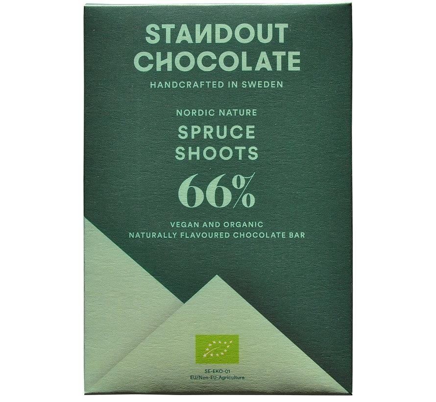 Dunkle Schokolade Spruce Shoots 66%