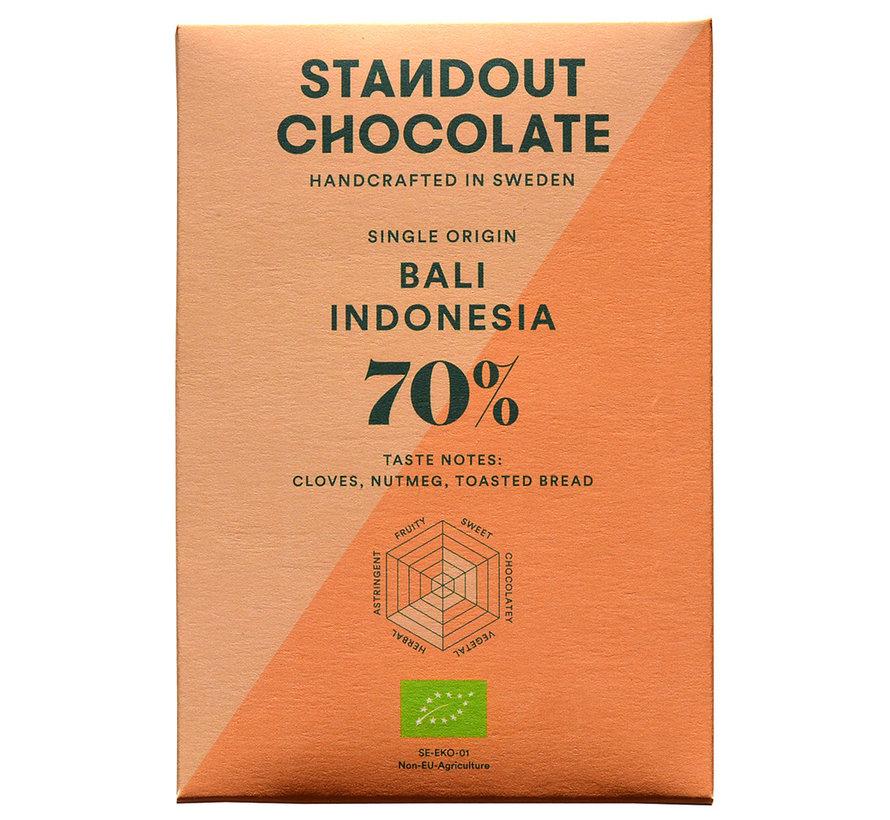 Dunkle Schokolade Bali Indonesia 70%