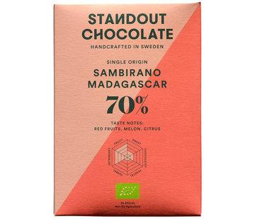 Standout Chocolate Dunkle Schokolade Sambirano Madagascar 70%