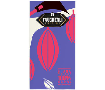 Taucherli Dunkle Schokolade Ghana 100% pure