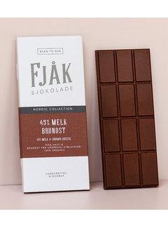Fjåk Sjokolade  Milchschokolade 45% Melk & Brunost