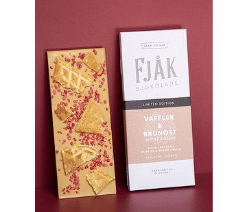 Fjåk Sjokolade  Weiße Schokolade Vaffler & Brunost