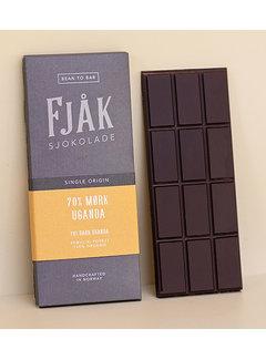 Fjåk Sjokolade  Dunkle Bio-Schokolade 70%  Uganda