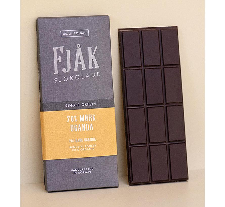Dunkle Bio-Schokolade 70%  Uganda