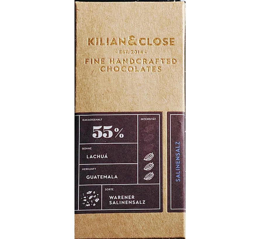 Vegane Milchschokolade Warener Salinensalz 55%