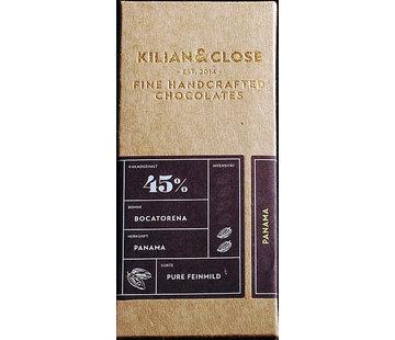 Kilian&Close Vegane Milchschokolade 45% Bocatorena