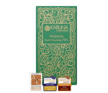 Karuna Chocolate Dunkle Bio-Schokolade 70% Tanzania Kakoa Kamili