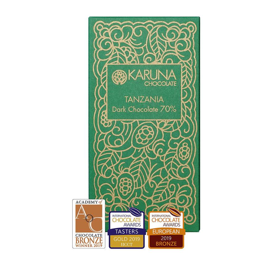 Dunkle Bio-Schokolade 70% Tanzania Kakoa Kamili