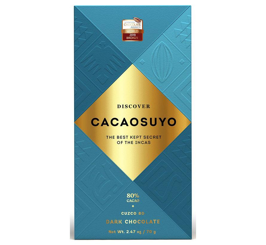 Dunkle Schokolade Cusco 80%