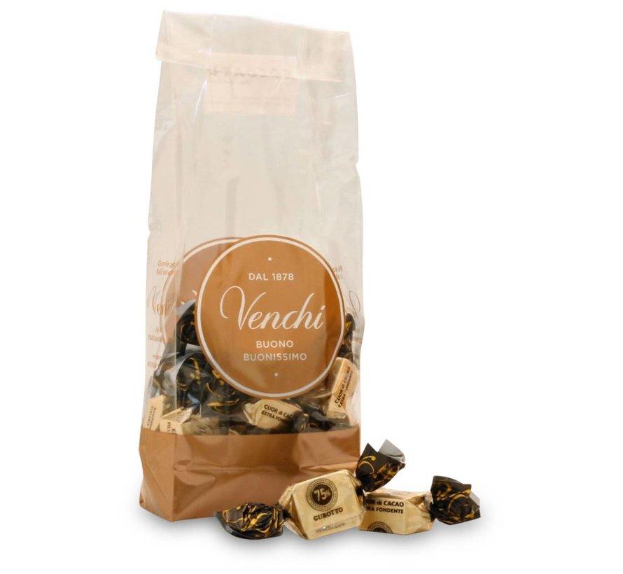 Dunkle Schokolade 75% Cubotti Cuor di Cacao
