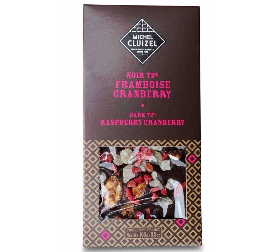 Dunkle Schokolade 72% Framboise Cranberry