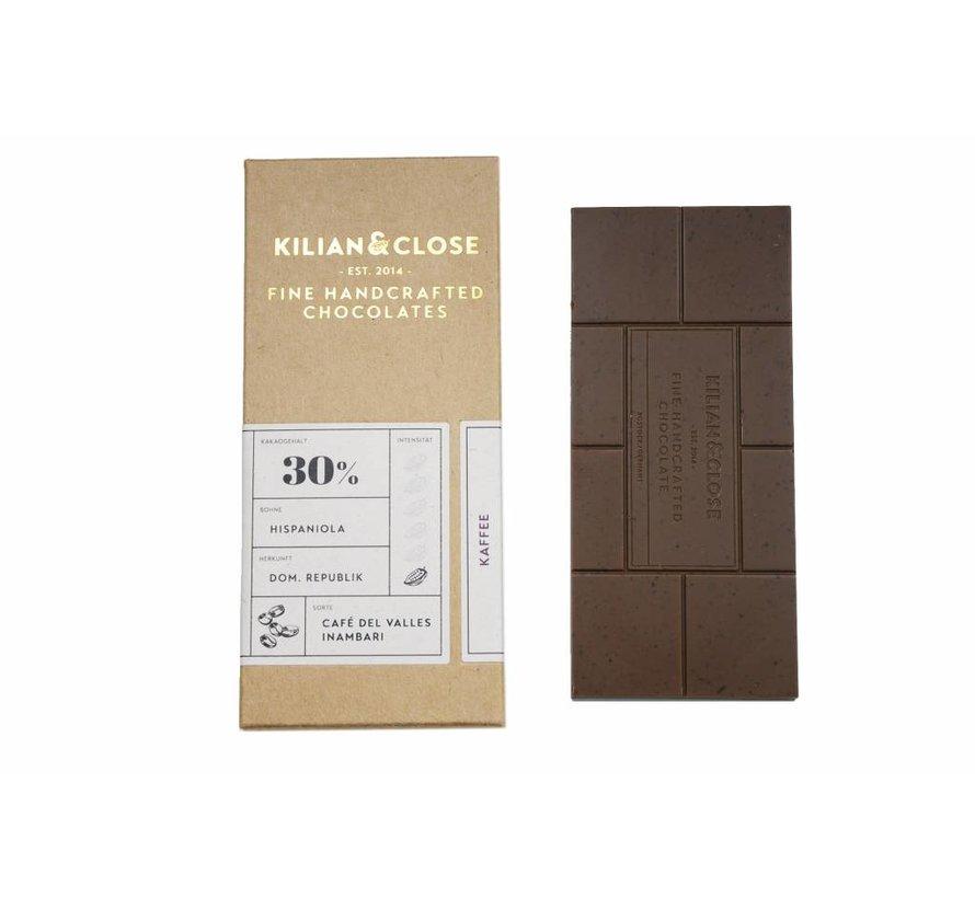 Vegane weiße Schokolade mit Kaffee
