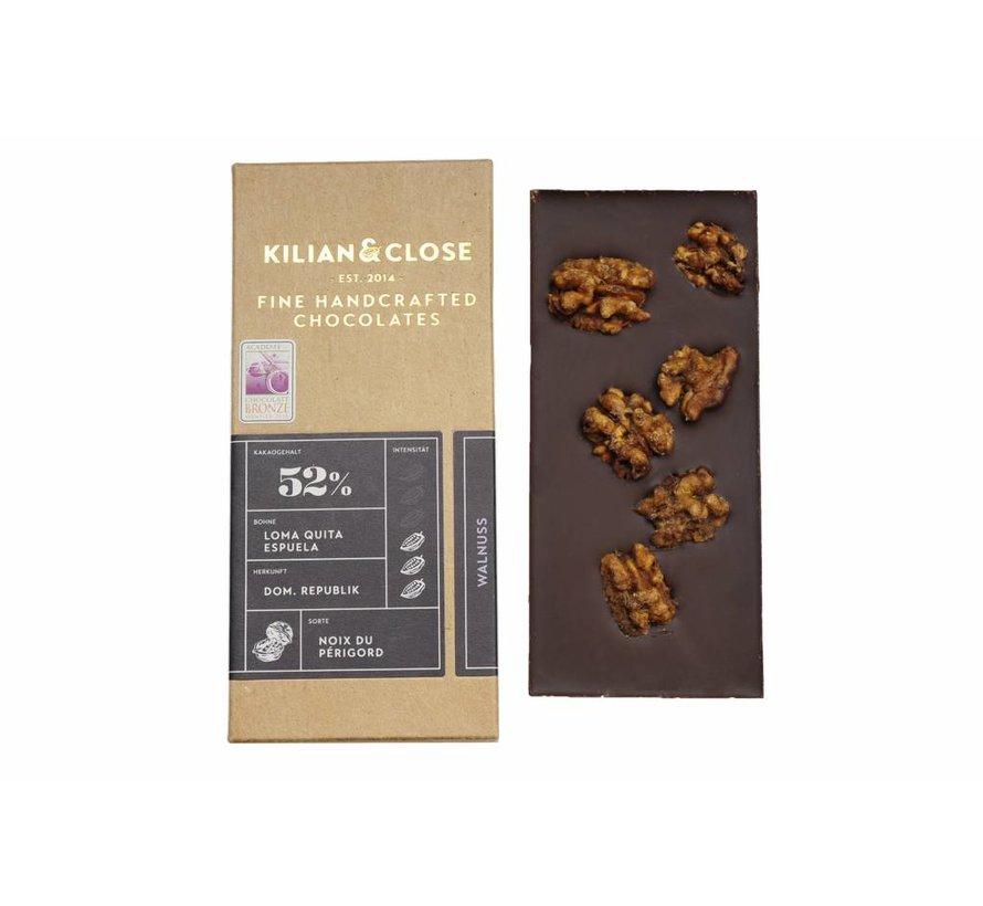 Vegane Milchschokolade karamellisierte Périgord-Walnuss