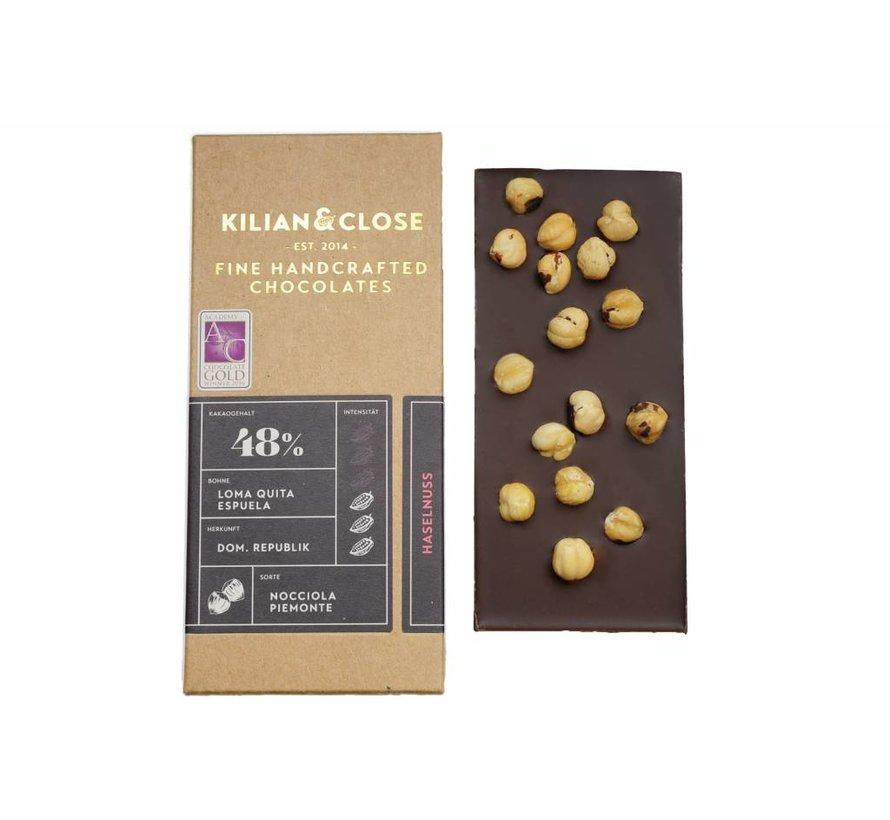 Vegane Milchschokolade geröstete Piemont Haselnuss