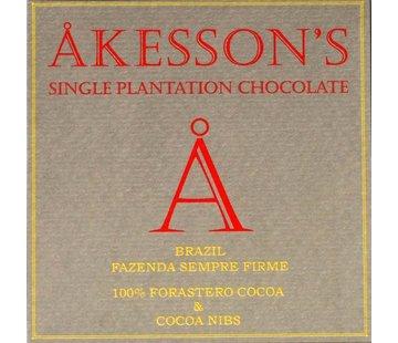 Akesson's 100% Cocoa and Cocoa Nibs Brazil Fazenda Sempre Firme